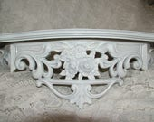 Reserved Shabby Chic, Wall Shelf,Bed Crown,White Shelf, Nursery Shelf, Size 19 x 8,Choose Color
