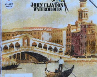 The Rialto   – John Claytons Watercolours - Heritage Crafts Cross Stitch Chart