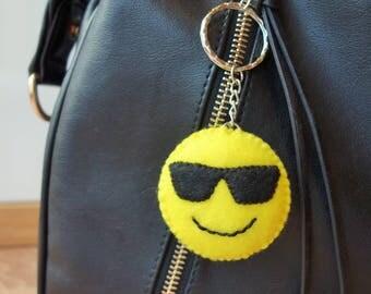 Emoji Keyring - Sunglasses