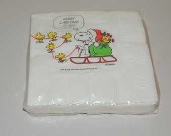 Hallmark SNOOPY/PEANUTS Cocktail Napkins