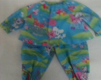 "Baby Alive  And Waldorf Doll Clothes Disney Palace Pets, Best Friends Pajamas 10"" 12"" 15"""