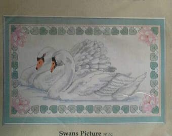 Swans Picture Something Special Counted Cross Stitch Complete Kit