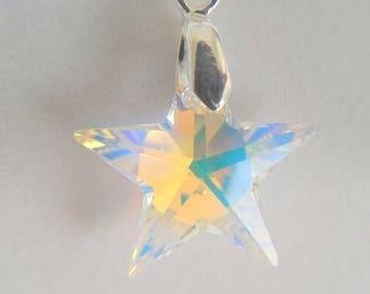 Genuine Swarovski Star Pendant Necklace
