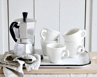 WHITE Ironstone Coffee Cup Restaurant Ware Mug