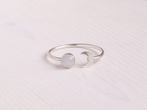 Moon & Moonstone Ring