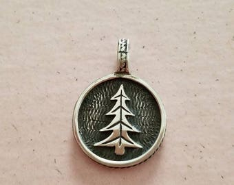 Vintage Sterling Silver 925 Tree 1997 Pendant