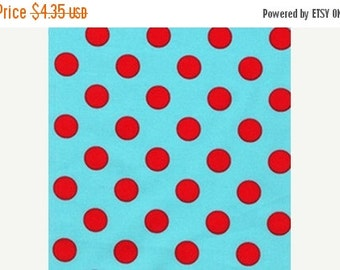 Christmas Sale Michael Miller Fabric - Aqua Quarter Dot from Plain Jane Collection Half Yard