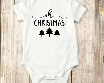 Oh christmas tree, onesie, shirt,  bodysuit, children clothing, baby, tops,shirt