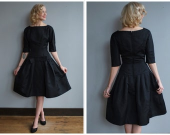 1950s Dress // Black Tie Affair SUZY PERETTE Party Dress // vintage 50s dress