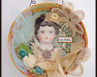 Queen Large Ornament or Hanging Assemblage