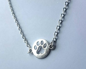 Cat Paw Print Charm Necklace - Super cute for a cat fan
