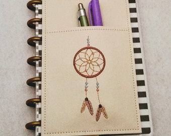Dream Catcher Planner Pen Holder Planner Accessories Journal Accessories Notebook Pen Case Beautifully Embroidered MAMBI Happy Planner RTS