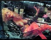 Unique Playboy Girls Handmade Magazine Denim Patch Glam Punk