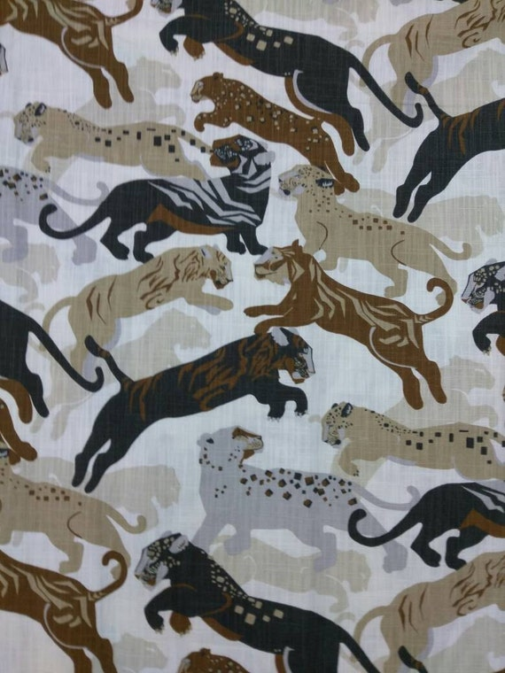 upholstery big cats fabric per yard african design upholstery fabric home decorating table. Black Bedroom Furniture Sets. Home Design Ideas