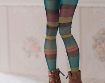 striped High socks stockings  BJD