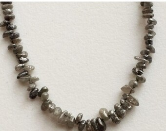 65% MEGA SALE Grey Rough Diamond Tumbles, Grey Raw Diamond Beads, Grey Diamond Drilled, Loose Diamonds, Conflict Free, 2.5mm - 6.5.mm, 3.5 I