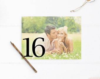 Photo Table Numbers Ideas, Wedding Table Numbers with photo, Table Number Card, Engagement Pictures - tn0022