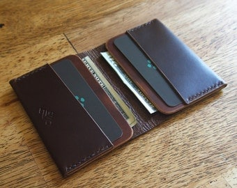 The Flapjack Minimalist Wallet (Brown & Natural)