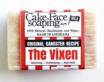 Natural vegan soap bar cinnamon soap exfoliating soap bar handcrafted soap bar natural soap bar masculine soap for bridal shower gift soap