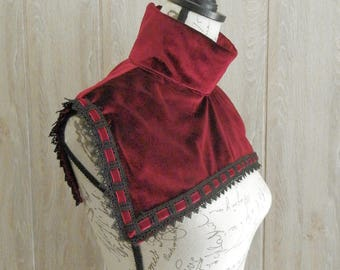 Velvet and Lace  Nun Collar