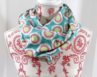 Spring Infinity Scarf Amy Butler Soul Blossom - FREE Shipping to USA