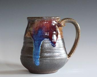 Pottery Coffee Mug, 16 oz, handmade ceramic cup, handthrown mug, ceramic stoneware pottery mug unique coffee mug ceramics and pottery