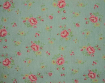 Vintage rose print Yuwa Live Life collection BTY