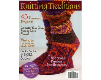 Knitting Traditions, Interweave Knits, Winter 2010, 43 Timeless Projects, Vintage Techniques, Socks, Out of Print, New, Perfect Condition