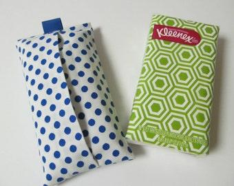 Tissue Case/Blue Dots On White