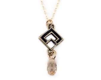 Crystal Pendant | Swarovski Crystal Necklace | Diamond Shape