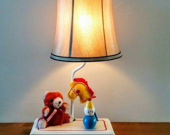 Judi's Originals Music Box Lamp ~ Vintage Judi's Lamp ~ Child's Music Box Lamp