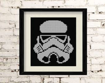 DIY Stormtrooper Star Wars / embroidery Cross Stitch .pdf / Instant Download