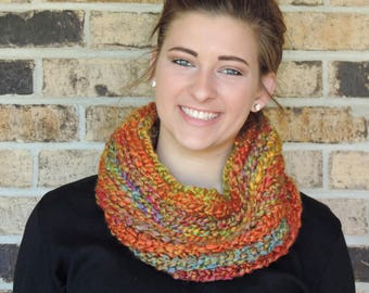 Chunky Hand Crocheted Cowl Scarf