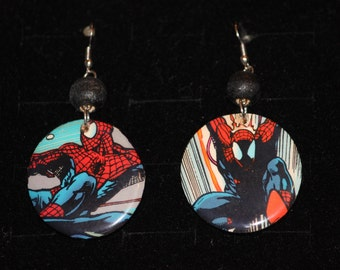 Marvel Spider Man and Venom Super Heroes Comic Book Earrings Spiderman Avengers