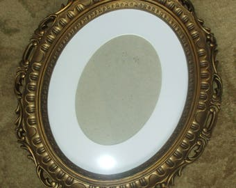 Hand Painted Oval Frame Antique Gold Old World Frame 8 x 10 or 5 x 7 Mat Print Photo Picture Painting Art