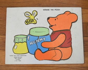 Winnie The Pooh Wood Inlay Puzzle