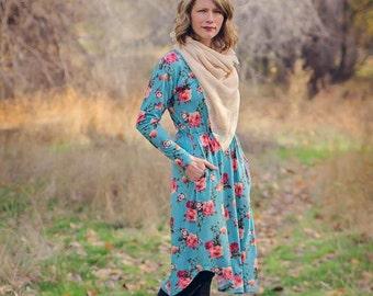 Deer Creek Tunic and Dress pattern Sizes xx-small, x-small, small, medium, large, xl, 2x, 3x