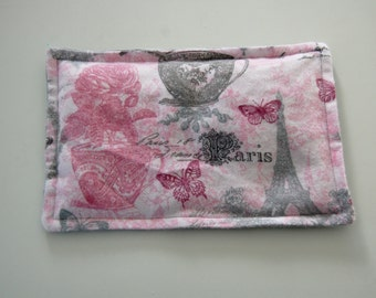 Rice Heating Pad / Ice Pack, 5 X 8 Springtime in Paris