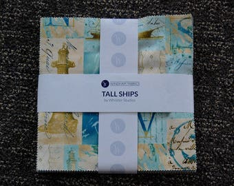 Signature Quilt, Tall Ships, Custom Wedding Quilt, Baby Shower, Hand Quilted