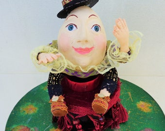 """Humpty Dumpty Art Doll inspired by the """"Alice in Wonderland """"(""""Puss in Boots"""") movies, OOAK"""