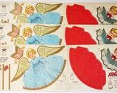 RESERVED Vintage Paper Angel Post Cereal Advertising Premium, Vintage Christmas Paper Ephemera,Vintage Paper Doll Angels Kids Crafts