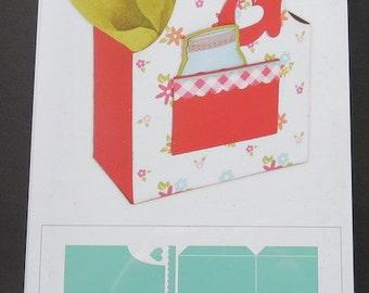 """Apron Box - Sizzix Bigz XL Die 6""""X13.75"""" By Lori Whitlock - 660295"""