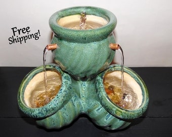Pot Pile-Up 4-Spout Water Fountain-  Indoor or Covered Outdoor Water Fountain- Free Shipping