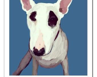 Bull Terrier Dog Illustration-Pop Art Print