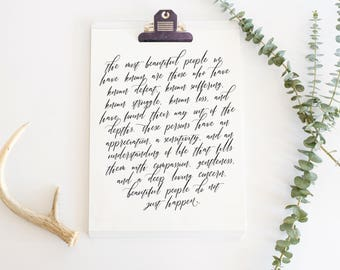 Beautiful People Print