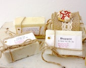 Ceramic Soap Dish Gift Set with Queen Bee Body Care Soap