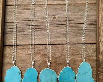 Aqua Stone Necklaces