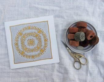 Yellow Quilt Letterpress Card