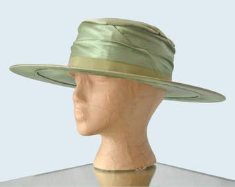 Edwardian Green Silk Hat