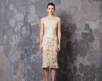 Sale Prom Dress, Pencil Dress, Neutral Dress, Fitted Dress, Sleeveless Dress, Pattern Dress, Knee Length Dress, Chic Dress, Dinner Dress